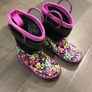 Floral rain boots